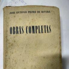 Libros de segunda mano: JOSÉ ANTONIO PRIMO DE RIVERA-OBRAS COMPLETAS-1952. Lote 194657027