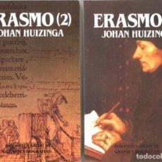 Libros de segunda mano: ERASMO DE ROTTERDAM. BIOGRAFÍA. DOS TOMOS. 1989. Lote 194693591