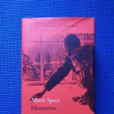 Libros de segunda mano: MEMORIAS ALBERT SPEER ACANTILADO. Lote 195014345