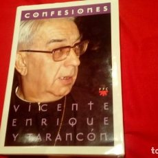 Libros de segunda mano: CONFESIONES. ENRIQUE Y TARANCÓN, VICENTE. ED. PPC. MADRID 1996. Lote 195056005