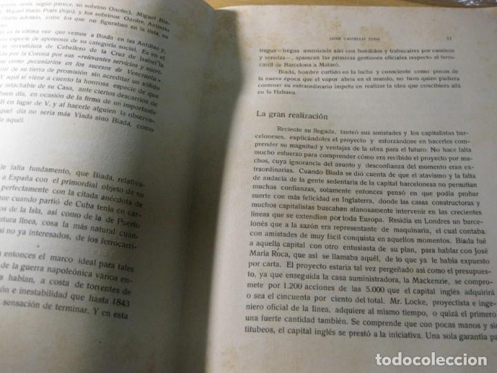Libros de segunda mano: biografia de miguel biada bunyol . propulsor de el carrilde mataro primer tren en españa 1947 - Foto 4 - 195148230