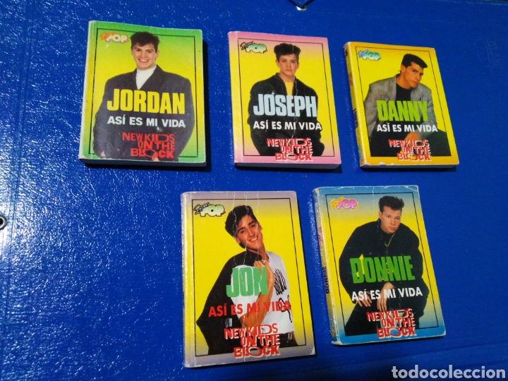 LOTE DE 5 MINI LIBROS ( NEW KIDS OM THE BLOCK ) (Libros de Segunda Mano - Biografías)