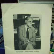 Libros de segunda mano: HOMENAJE A JUAN RAMÓN JIMÉNEZ (Nº 33 OCTUBRE 2008). EP-253. Lote 195172041