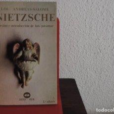 Libros de segunda mano: NIETZSCHE (LOU ANDREA-SALOME) EDITORIAL ZERO. Lote 195178306