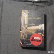 Libros de segunda mano: RECUERDOS Y OLVIDOS. FRANCISCO AYALA. Lote 195336568