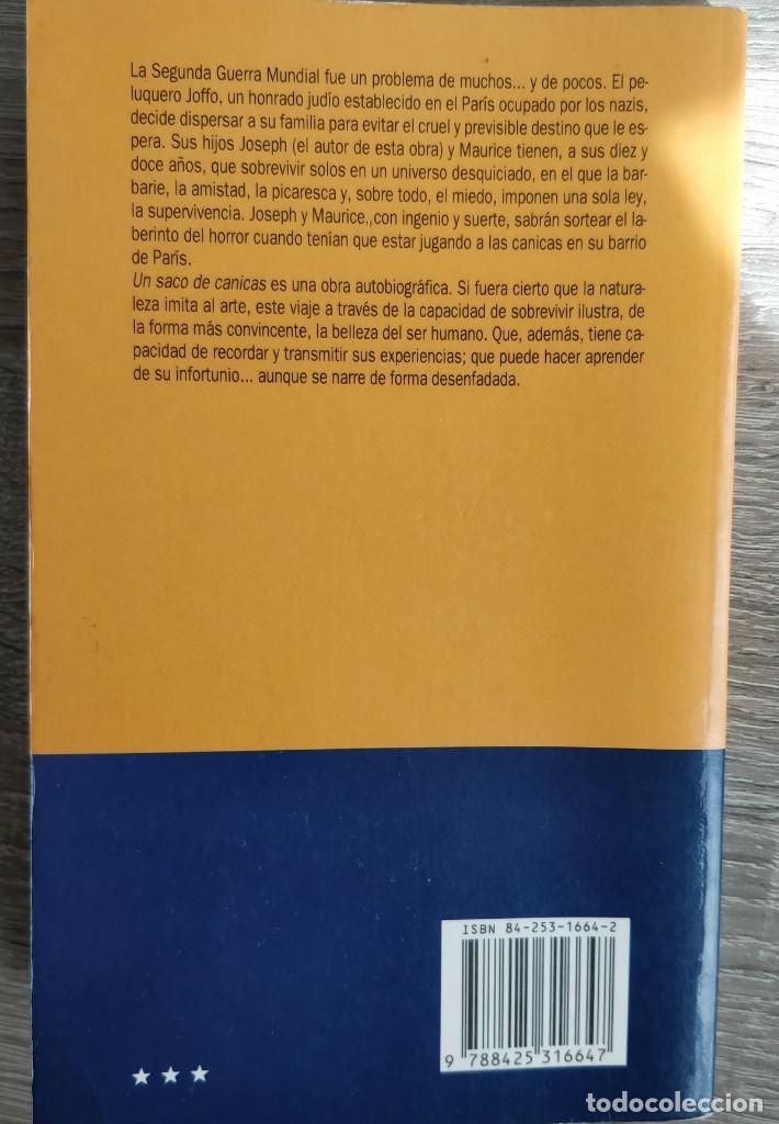Libros de segunda mano: UN SACO DE CANICAS. JOSEPH JOFFO - Foto 2 - 195369652