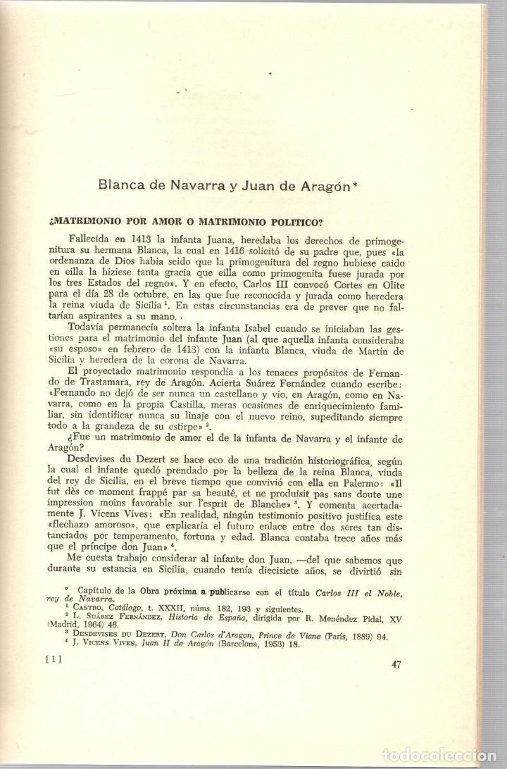 Libros de segunda mano: BLANCA DE NAVARRA Y JUAN DE ARAGON. JOSE RAMON CASTRO. PAMPLONA, 1966 - Foto 2 - 195384483