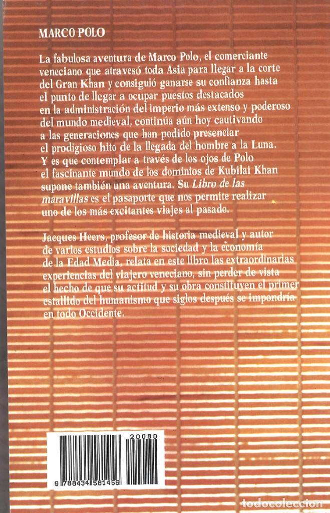 Libros de segunda mano: Marco Polo. Biografía. Jacques Heers. 1989 - Foto 2 - 195392126