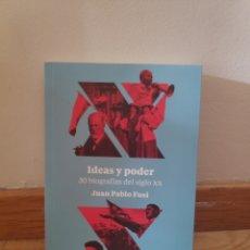 Libros de segunda mano: IDEAS Y PODER 30 BIOGRAFÍAS DEL SIGLO XX JUAN PABLO FUSI. Lote 195482440