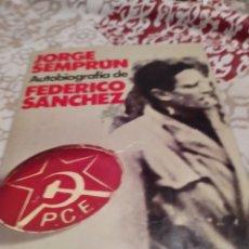 Libros de segunda mano: AUTOBIOGRAFIA DE FEDERICO SANCHEZ (JORGE SEMPRUN.. Lote 195915497