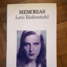 Livros em segunda mão: MEMORIAS LENI RIEFENSTAHL 1991 1ª EDICION LUMEN. Lote 196029228
