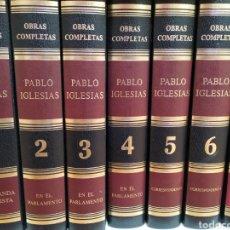 Libros de segunda mano: OBRAS COMPLETAS DE PABLO IGLESIAS. SOCIALISMO ENVIO GRATIS. Lote 198632322
