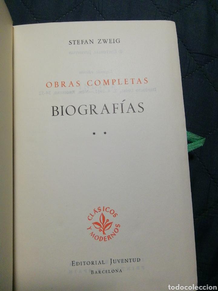 Libros de segunda mano: STEFAN ZWEIG. OBRAS COMPLETA III. BIOGRAFÍAS II. Maria Estuardo/Fouche/Erasmo de Róterdam/ Balzac - Foto 3 - 201566513