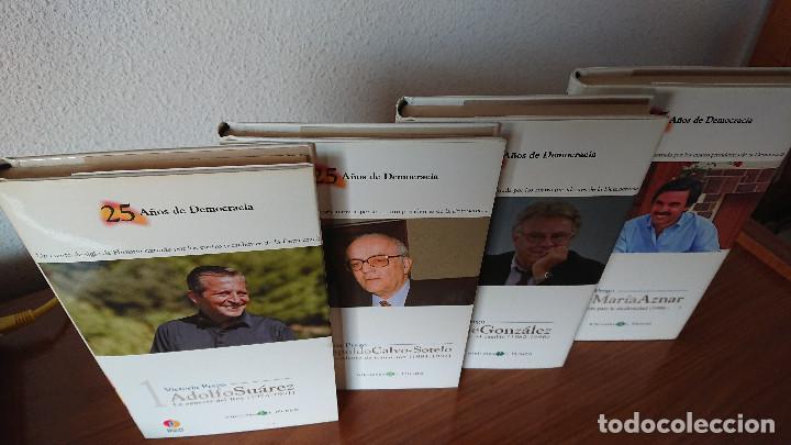 Libros de segunda mano: 25 AÑOS DE DEMOCRACIA.- Biblioteca EL MUNDO - Victoria Prego – Experiencias y recuerdos gobernantes - Foto 2 - 202595115