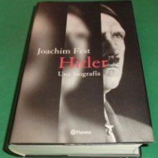 Libros de segunda mano: HITLER : UNA BIOGRAFÍA - JOACHIM FEST [DESCATALOGADO] (LIBRO NUEVO) ESTADO IMPECABLE!!!. Lote 202659481