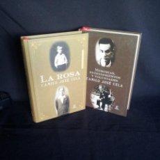 Libros de segunda mano: CAMILO JOSE CELA - LA ROSA Y MEMORIAS, ENTENDIMIENTOS Y VOLUNTADES (2 LIBROS) - ESPASA 2001. Lote 203569847