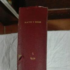 Libros de segunda mano: BLANCO Y NEGRO 1932. Lote 204320105