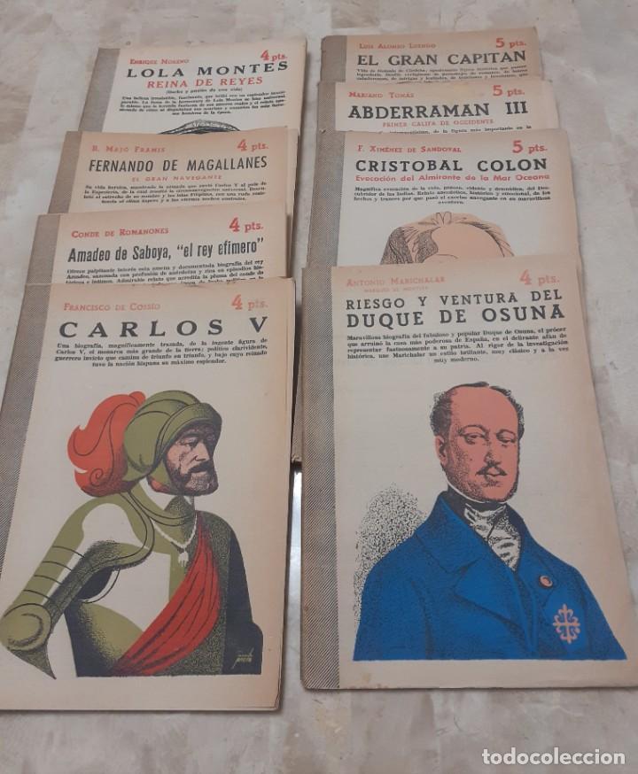 Libros de segunda mano: lote de 8 Biografias de la Revista Literaria de los años 50 Novelas y Cuentos - Foto 2 - 204536153
