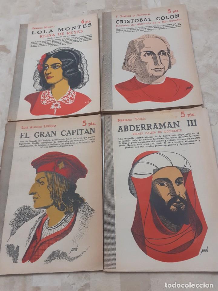 Libros de segunda mano: lote de 8 Biografias de la Revista Literaria de los años 50 Novelas y Cuentos - Foto 3 - 204536153