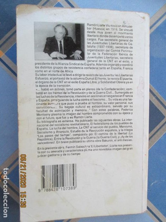 Libros de segunda mano: FERMIN SALVOCHEA , EL LIBERTADOR - RAMON LIARTE - 1ª EDC 1991- IMPRIME GRAFIQUES TORDERA - Foto 2 - 209142956