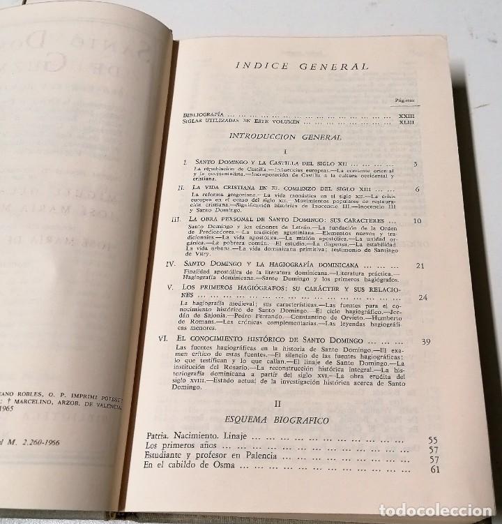 Libros de segunda mano: Santo Domingo de Guzmán visto por sus contemporáneos, Biblioteca de Autores Cristianos, Madrid, 1966 - Foto 4 - 210382701