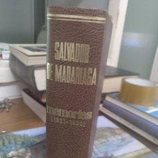 Libros de segunda mano: SALVADOR DE MADARIAGA MEMORIAS, 1921-1936. Lote 211729839