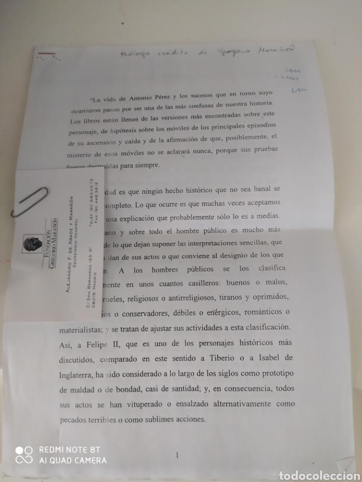 Libros de segunda mano: Antonio Pérez Gregorio Marañón con prólogo inédito de Gregorio Marañón y libro adicional - Foto 2 - 211791461