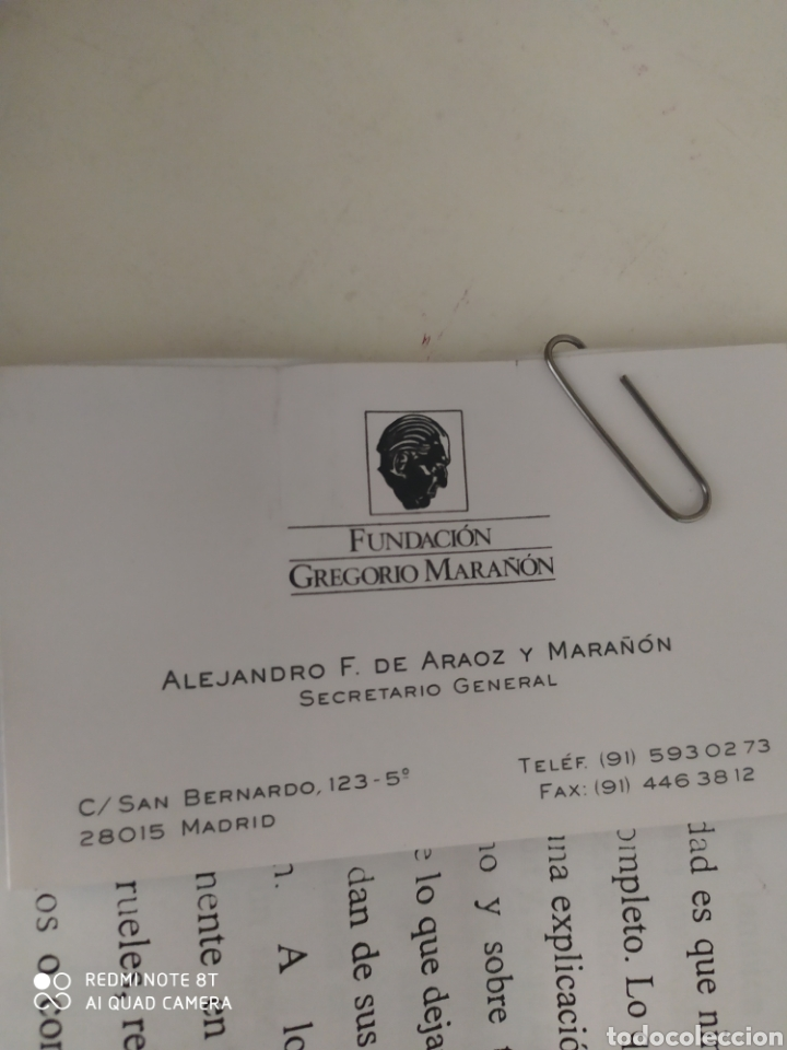 Libros de segunda mano: Antonio Pérez Gregorio Marañón con prólogo inédito de Gregorio Marañón y libro adicional - Foto 3 - 211791461