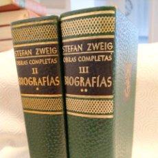 Livres d'occasion: STEFAN ZWEIG. OBRAS COMPLETAS. BIOGRAFIAS. 2 TOMOS. EDITORIAL JUVENTUD. 1952. TAPA DURA. CINTA MARCA. Lote 213454012