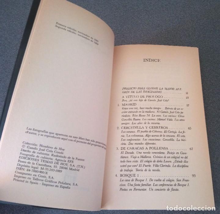 Libros de segunda mano: Cela Mi Padre Camilo Jose Cela Conde - Foto 4 - 214295520