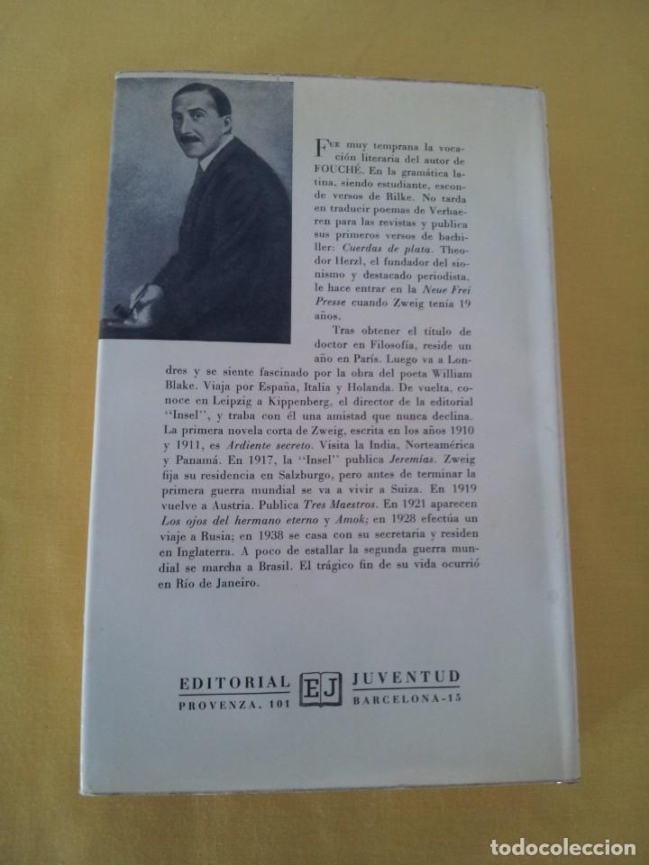 Libros de segunda mano: STEFAN ZWEIG - FOUCHE, EL GENIO TENEBROSO - EDITORIAL JUVENTUD NOVENA EDICION 1970 - Foto 3 - 215977231