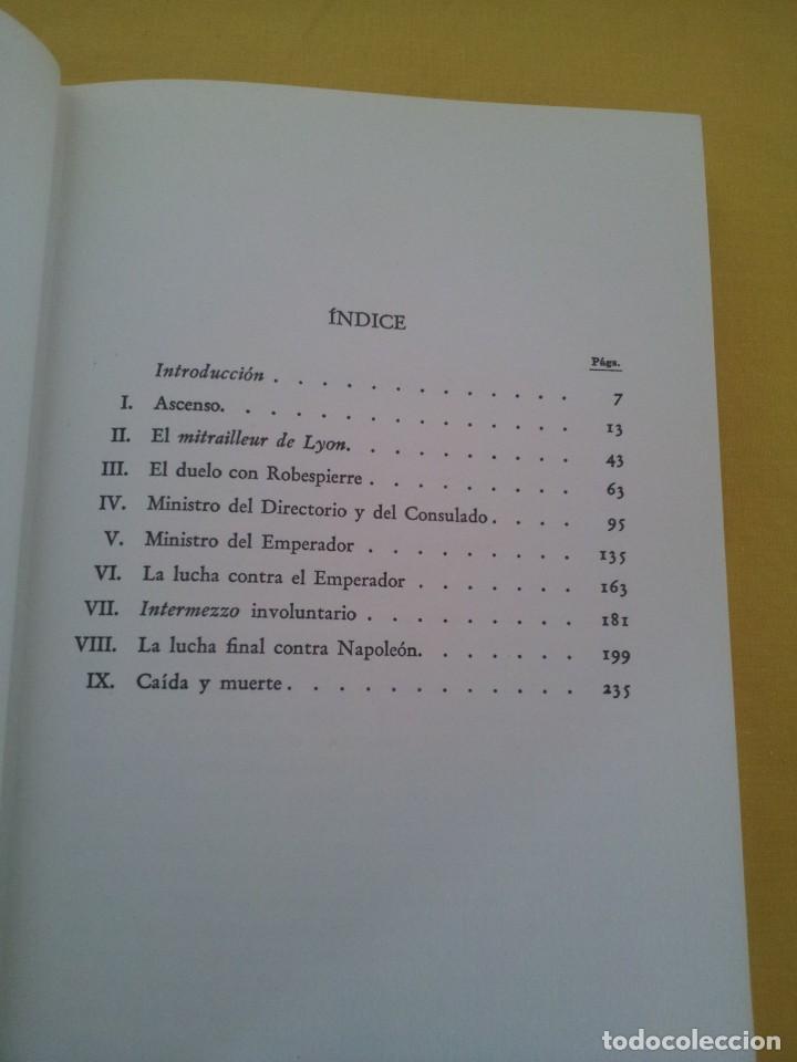 Libros de segunda mano: STEFAN ZWEIG - FOUCHE, EL GENIO TENEBROSO - EDITORIAL JUVENTUD NOVENA EDICION 1970 - Foto 4 - 215977231
