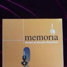 Libros de segunda mano: MEMÒRIA. REVISTA DE ESTUDIOS BIOGRÁFICOS. Nº 2 - AA.VV. - UB 2005. Lote 216370302