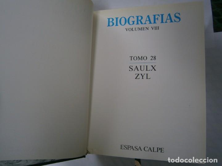 Libros de segunda mano: BIOGRAFIAS ESPAÑA, ESPASA -CALPESA. MADRID, BRCELONA - Foto 3 - 216779430