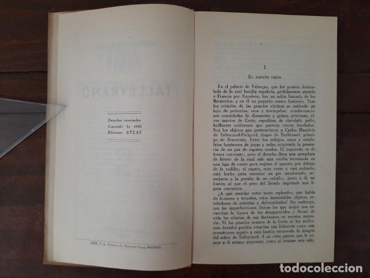 Libros de segunda mano: TALLEYRAND, VIDAS - HECTOR DEL VALLE - EDICIONES ATLAS, 1943, MADRID - Foto 7 - 217019002