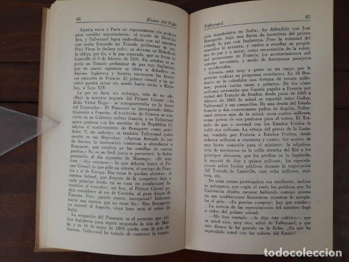 Libros de segunda mano: TALLEYRAND, VIDAS - HECTOR DEL VALLE - EDICIONES ATLAS, 1943, MADRID - Foto 8 - 217019002