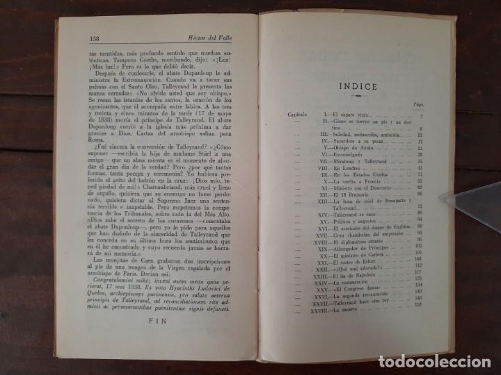 Libros de segunda mano: TALLEYRAND, VIDAS - HECTOR DEL VALLE - EDICIONES ATLAS, 1943, MADRID - Foto 9 - 217019002