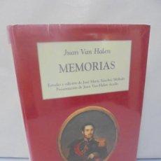 Libros de segunda mano: MEMORIAS. JUAN VAN HALEN. CRONICAS Y MEMORIAS. BUEN ESTADO SIN DESPRECINTAR.. Lote 218537910