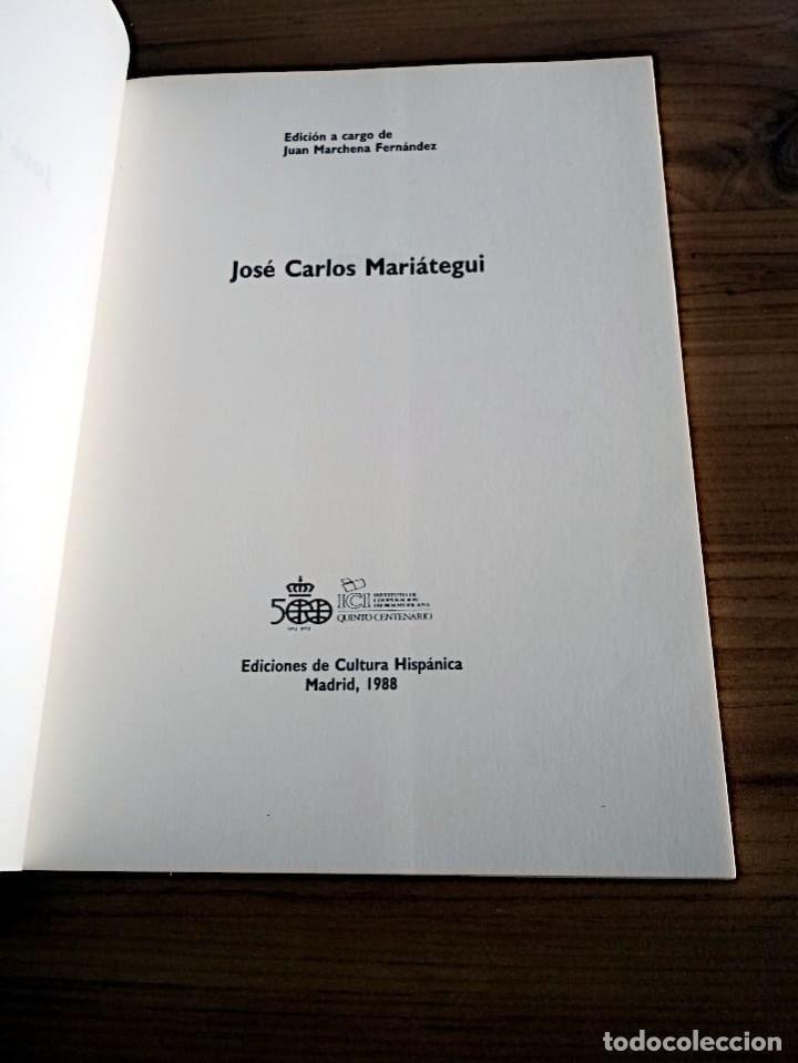 Libros de segunda mano: MARIÁTEGUI, JOSE CARLOS. ED. LIT. MARCHENA FERNANDEZ, JUAN, 1ª ED.1988 NUEVO - Foto 3 - 219454247