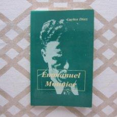 Libros de segunda mano: EMMANUEL MOUNIER - CARLOS DÍAZ (COLECCIÓN SINERGIA SERIE VERDE). Lote 220467708