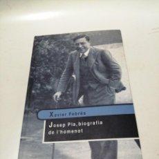 Libri di seconda mano: XAVIER FEBRÉS - JOSEP PLA, BIOGRAFIA DE LHOMENOT. Lote 220528075