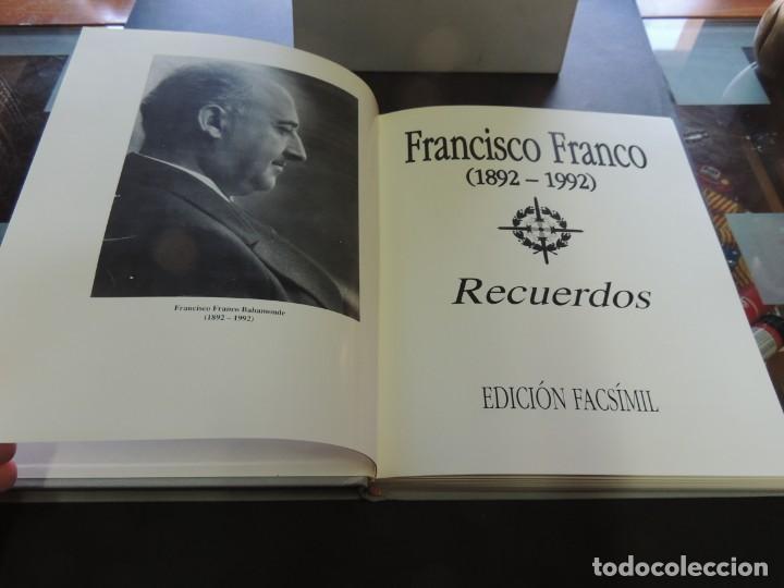 Libros de segunda mano: FRANCISCO FRANCO (1892-1992). RECUERDOS. EDICIÓN FACSÍMIL.- VV.AA. - Foto 3 - 221458956