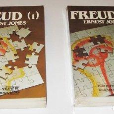Libros de segunda mano: FREUD - ERNEST JONES - 2 TOMOS - ILUSTRADO. Lote 221876481