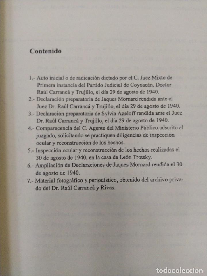 Libros de segunda mano: BOX 37cm.EL CASO TROTSKY.PRESENTACION DE UN PROCESO POR RAUL CARRANCA Y RIVAS.CONEPOD MEXICO D.F1994 - Foto 21 - 222396180