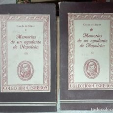 Libros de segunda mano: CONDE DE SÉGUR. MEMORIAS DE UN AYUDANTE DE NAPOLEÓN.. Lote 222607470