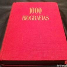 Libros de segunda mano: 1000 BIOGRAFÍAS - ENCICLOPEDIA DE GASSO. Lote 224218988