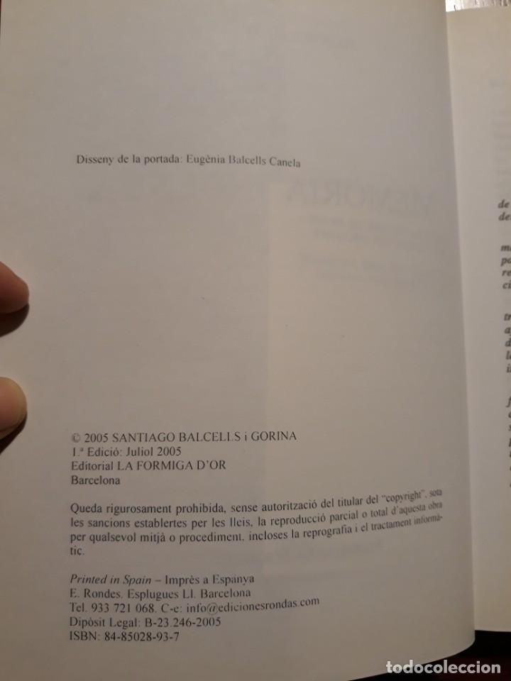Libros de segunda mano: MEMÒRIA INGÈNUA - ALFONS BALCELLS. Català - Foto 3 - 224636970