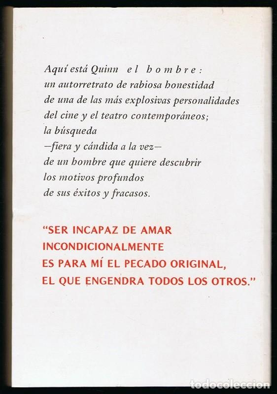 Libros de segunda mano: ANTHON QUINN EL PECADO ORIGINAL AUTOBIOGRAFIA - Foto 2 - 226643005
