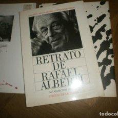 Libros de segunda mano: RETRATO DE RAFAEL ALBERTI Mª ASUNCIÓN MATEO FIRMADO Y DEDICADO 1989 CIRCULO DE LECTORES 111 PG 30X21. Lote 230212860