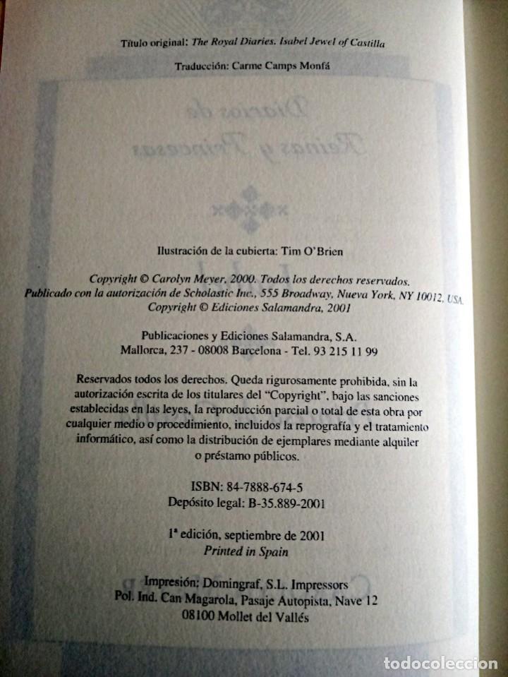 Libros de segunda mano: ISABEL. PRINCESA DE CASTILLA. MEYER CAROLYN. SALAMANDRA. 1 ª ED. 2001 NUEVO. - Foto 5 - 230590625